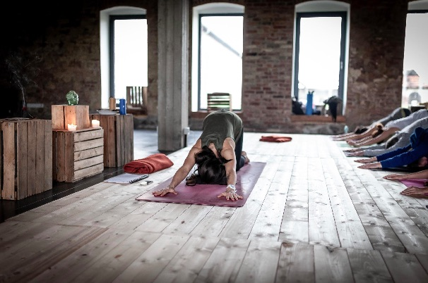 Melting heart yoga posture